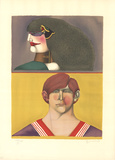 Face and Profile Collectable Print by Richard Lindner