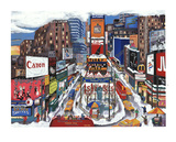 Times Square in the Snow Limited Edition by Linnea Pergola