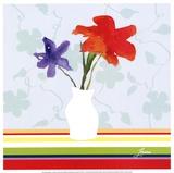 Spring Stripes I Posters by Karen Lorena Parker