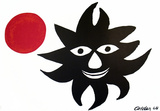 Sun and Moon Collectable Print by Alexander Calder