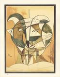 Tete de Faune Gris (After) Collectable Print by Pablo Picasso
