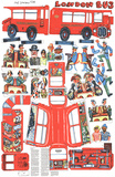 London Bus Collectable Print by Red Grooms