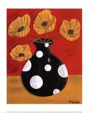 Polka Dot Poppies Prints by Heather Donovan