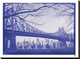 New York City In Winter II In Colour Stretched Canvas Print by  British Pathe