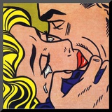 Kiss V, 1964 Mounted Print by Roy Lichtenstein