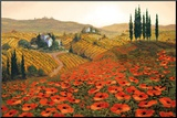 Hills of Tuscany II Mounted Print by Steve Wynne