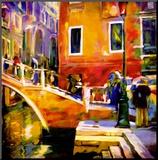 Ponte Veneziano II Mounted Print by Oana Lauric