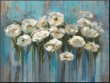 Anemones by the Lake Mounted Print by Silvia Vassileva
