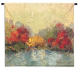 Fall Riverside I Wall Tapestry - Small Wall Tapestry