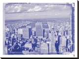 New York City In Winter I In Colour Stretched Canvas Print by  British Pathe