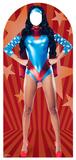 Woman Super Hero Stand-In Papfigurer