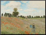 Poppy Field, Near Argenteuil, c.1873 Mounted Print by Claude Monet