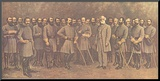 Robert E. Lee and His Generals Mounted Print by  Mathews