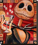 Jack Celebrates the Dead Stretched Canvas Print by Mike Bell