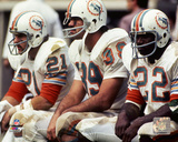 Jim Kiick, Larry Csonka, & Mercury Morris 1971 AFC Championship Game Photo