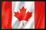 Furrowed Canadian Flag Posters