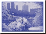 New York City In Winter IX In Colour Stretched Canvas Print by  British Pathe