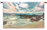 Peace On The Sand Wall Tapestry - Small Wall Tapestry