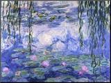 Waterlelies, ca. 1916 Kunst op hout van Claude Monet