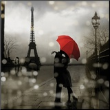Paris Romance Mounted Print by Kate Carrigan
