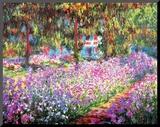 Kunstnerens hage ved Giverny, ca 1900 Montert trykk av Claude Monet