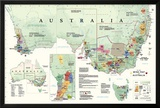 Wine Map Of Australia Prints