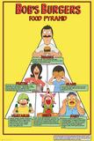 Bobs Burgers- Food Pyramid Posters