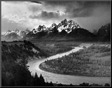 Tetons and The Snake River, Grand Teton National Park, c.1942 Mounted Print by Ansel Adams