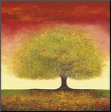 Dreaming Tree Red Mounted Print by Melissa Graves-Brown