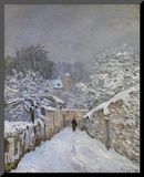 Snow at Louveciennes, France, c.1878 Mounted Print by Alfred Sisley