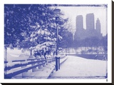 New York City In Winter VIII In Colour Stretched Canvas Print by  British Pathe