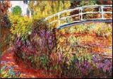 De Japanse brug Kunst op hout van Claude Monet