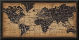 Old World Map Mounted Print by  Pela