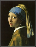 Girl with Pearl Earring Mounted Print by Jan Vermeer