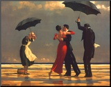 The Singing Butler Mounted Print by Jack Vettriano