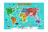 Map of the World Posters by Artisticco LLC