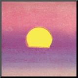 Sunset, c.1972 40/40 (lavender) Mounted Print by Andy Warhol