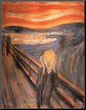 Skrik, ca. 1893 Montert trykk av Edvard Munch