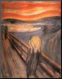 The Scream, c.1893 Mounted Print by Edvard Munch