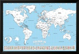 World Map Colour Me In Poster van WORLDWIDE
