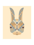 The Abstract Head of Rabbit Geometry Vector Illustration Posters by  coffeee_in