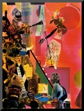 The Blues Mounted Print by Romare Bearden