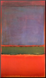 No. 6 (Violet, Green and Red), 1951 Mounted Print by Mark Rothko