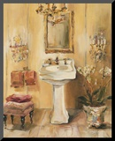 French Bath III Mounted Print by Marilyn Hageman