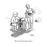 """""""He says he feels empty inside."""" - New Yorker Cartoon Premium Giclee Print by Benjamin Schwartz"""