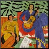 Music, c.1939 Montert trykk av Henri Matisse