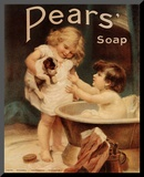 Pears Soap Mounted Print