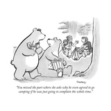 """You missed the part where she asks why he even agreed to go camping if he... - New Yorker Cartoon Premium Giclee Print by Benjamin Schwartz"