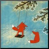 Kristiana Pärn - It's Going To Be a Good Day Reprodukce aplikovaná na dřevěnou desku