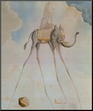 L'Elephante Giraffe Mounted Print by Salvador Dalí